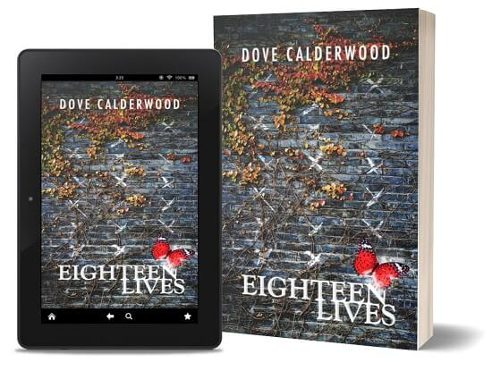 A book-and-ipad composite of the Eighteen Lives front cover