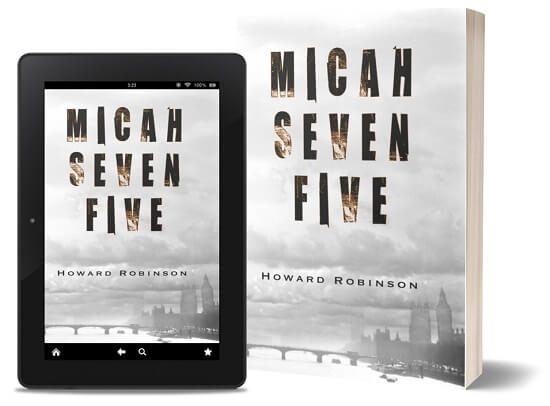 A book-and-ipad composite of the Micah Seven Five front cover