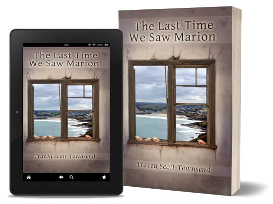 A book-and-ipad composite of The Last Time We Saw Marion front cover