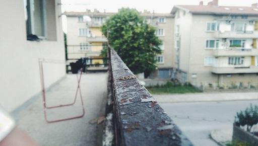 An old run-down apartment block