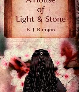 Literary fiction book cover for A House of Light and Stone (by EJ Runyon)