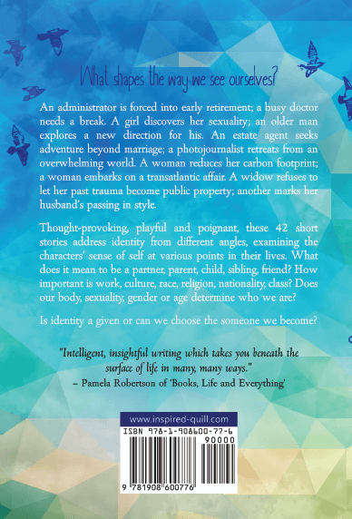 Back cover of short story collection Becoming Someone (by Anne Goodwin)