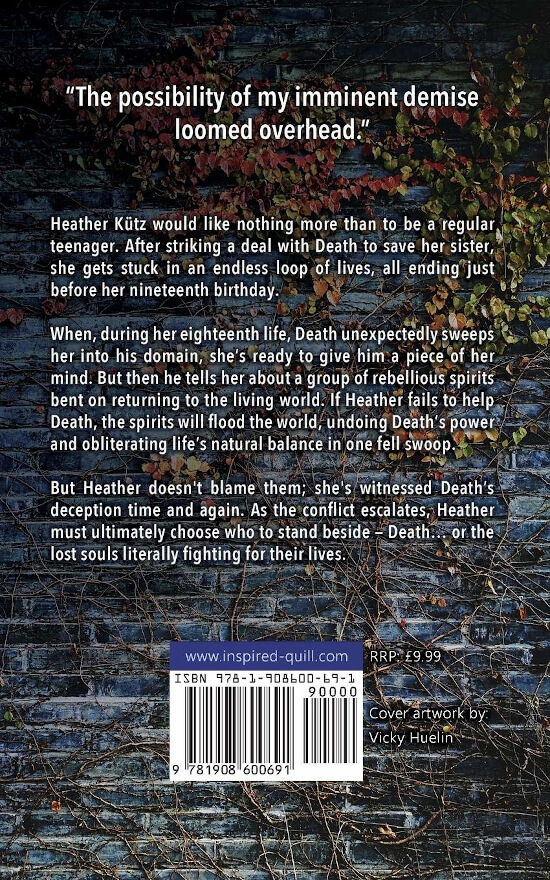 Back cover for the YA Fantasy book Eighteen Lives by Dove Calderwood