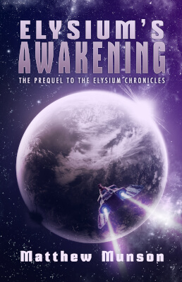 Sci-Fi book cover for Elysium's Awakening novella (by Matthew Munson)