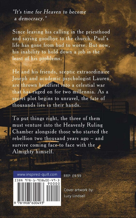 Back cover of Urban Fantasy book Fall From Grace (by Matthew Munson)