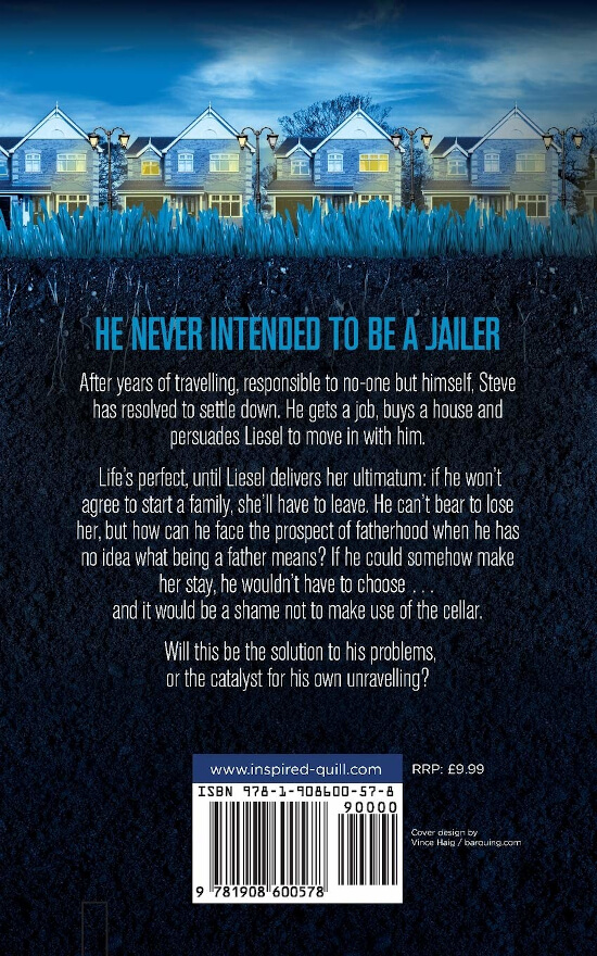 Back cover of psychological suspense novel Underneath (by Anne Goodwin)