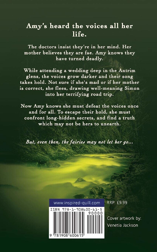Back cover of fantasy thriller novel Waters and the Wild (by Jo Zebedee)