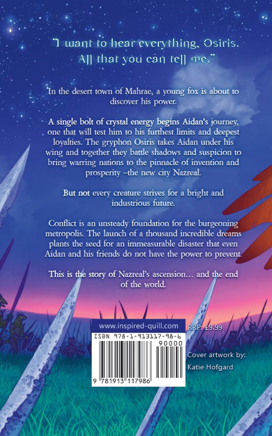 YA Fantasy back cover for Ruin's Dawn (by Hugo Jackson)