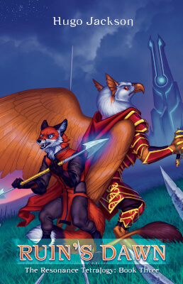 YA Fantasy book cover for Ruin's Dawn (by Hugo Jackson)