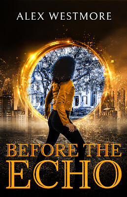 Modern paranormal fantasy cover for Before The Echo (by Alex Westmore)
