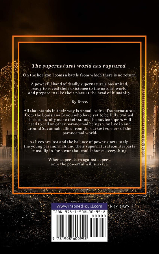 Back cover of the paranormal fantasy novel Before The Echo (by Alex Westmore)