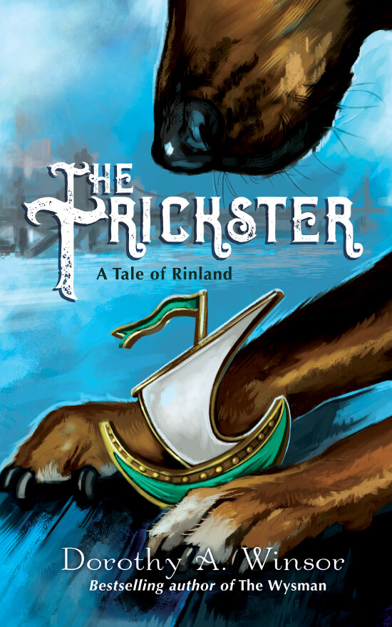 YA Fantasy book cover for The Trickster (by Dorothy A. Winsor)